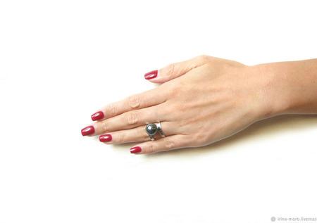 """Кольцо с жемчугом """"Жемчужина"""" ручной работы на заказ"""