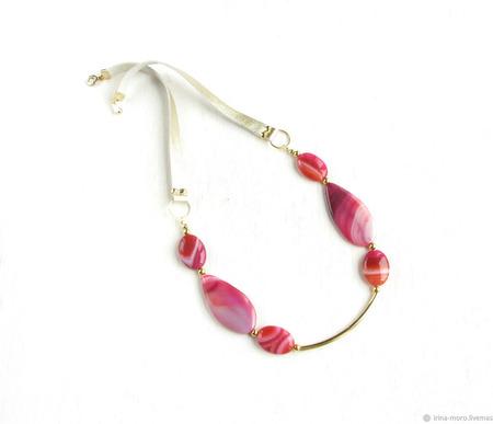 """Ожерелье из камней """"Фиеста"""" ручной работы на заказ"""