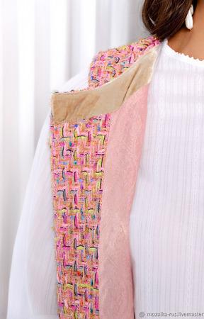 """Жилет из ткани """"Шанель"""" ручной работы на заказ"""