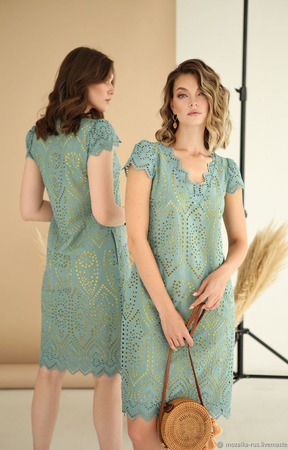 """Платье из хлопкового шитья """"Византия 1"""" ручной работы на заказ"""