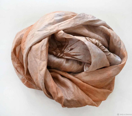 Шарф женский из натурального шелка ручной работы на заказ
