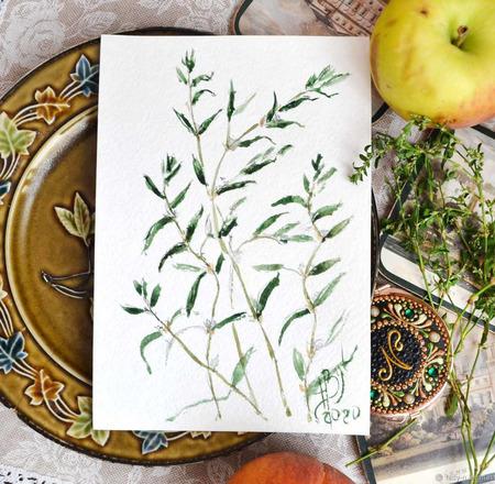 "Картина ""Трава-мурава"" ручной работы на заказ"