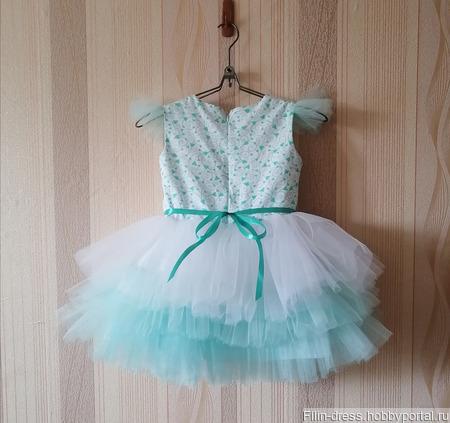 """Нарядное платье для девочки """"Daria"""" ручной работы на заказ"""