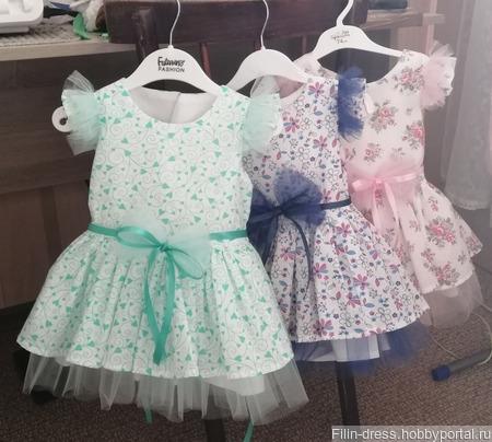 """Нарядное платье для девочки """"Marisha"""" ручной работы на заказ"""
