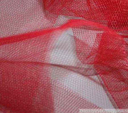 Фатин мягкий цвет красный ручной работы на заказ