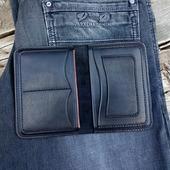 Бумажник кожаный, чёрная классика