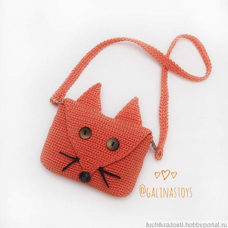 Вязаная сумочка-лисичка для девочек ручной работы на заказ
