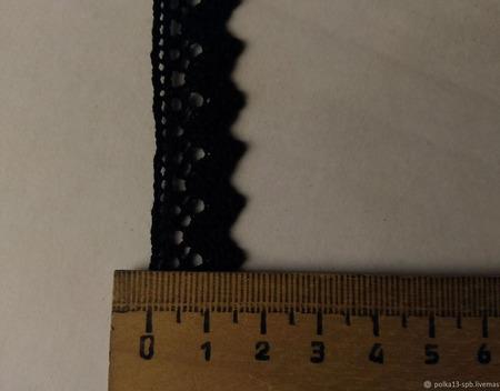 Кружево хлопковое, чёрное. 3 вида. ручной работы на заказ