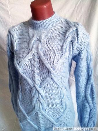 Ангоровый свитер - платье ручной вязки в Москве ручной работы на заказ