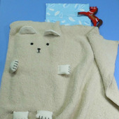 "Детский плед ""Белый медвежонок"""