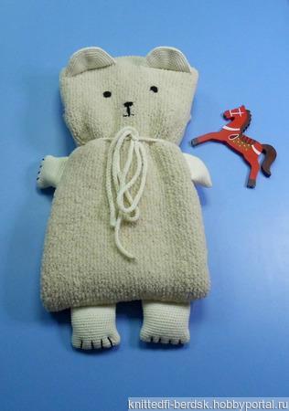"""Детский плед """"Белый медвежонок"""" ручной работы на заказ"""