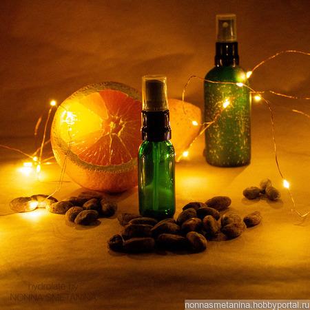 """Мини-версия гидролата """"Какао-бобы и апельсин"""" ручной работы на заказ"""