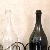 Бутылки 2 цвета Лебедь прозрачная и коричнево-оливковая