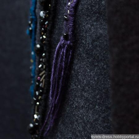 Джемпер с вышивкой Гольфстрим, шерсть ручной работы на заказ