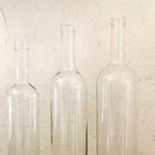 Бутылки прозрачные белые с толстым дном 3 размера