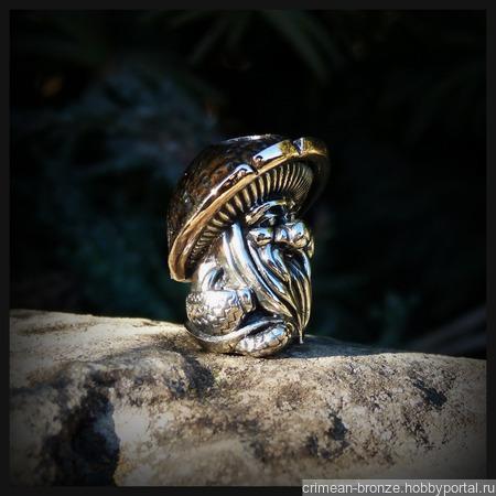 """Бусина """"Дух леса"""" для темляков или браслетов , биметалл ручной работы на заказ"""