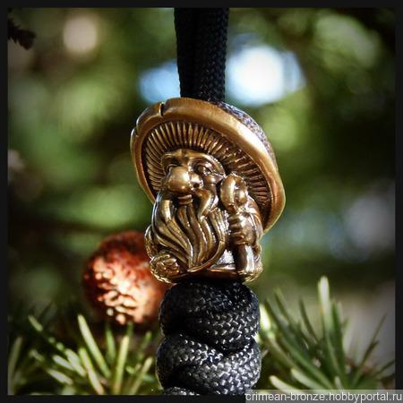 """Бусина """"Дух леса"""" для темляков или браслетов , латунь ручной работы на заказ"""