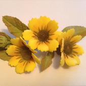 Заколка-зажим с осенними цветами