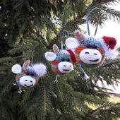 """Новогодние шары на ёлку """"Бычки"""" символ 2021 г"""