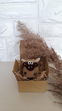 """Новогодняя мягкая игрушка на ёлку """"Бычок"""" символ 2021 г ручной работы на заказ"""