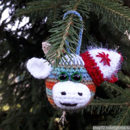 """Новогодние шары на ёлку """"Бычки"""" символ 2021 г ручной работы на заказ"""