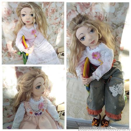 Кукла текстильная Мари ручной работы на заказ