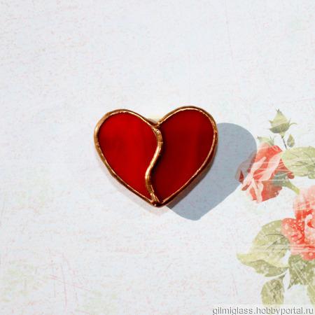 """Брошь """"Сердце"""" ручной работы на заказ"""