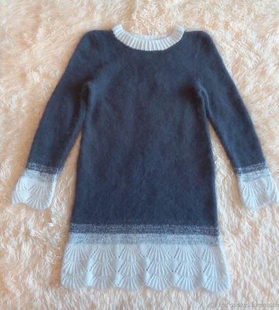 Платье из пуха норки ручной работы на заказ