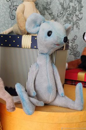 Тедди Зверята: Мышка Луна ручной работы на заказ