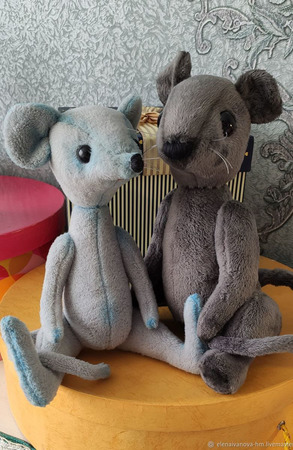 Тедди Зверята: Мышь Арчи ручной работы на заказ