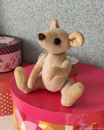 Тедди Зверята: Полевая  мышь Ася ручной работы на заказ