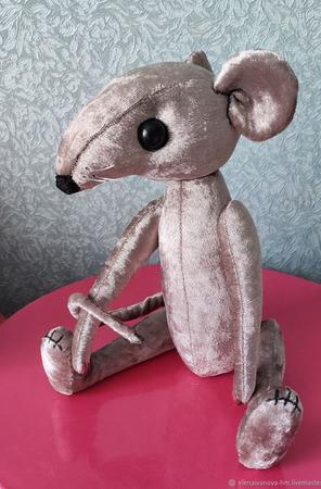 Тедди Зверята: Крыс Саймон ручной работы на заказ
