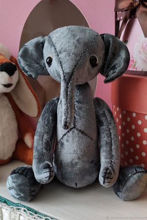 Тедди Зверята: Слонёнок Сёма ручной работы на заказ