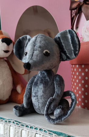 Тедди Зверята: Мышонок Сеня ручной работы на заказ