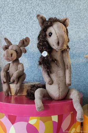 Тедди Зверята: Лошадка Анабель ручной работы на заказ