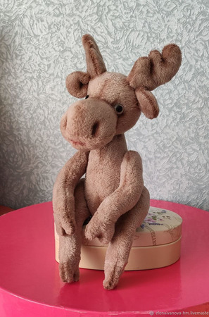 Тедди Зверята: Лосёнок Патрик ручной работы на заказ