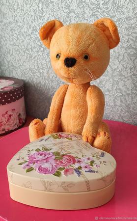 Тедди Зверята: Рыжий котик Елисей ручной работы на заказ