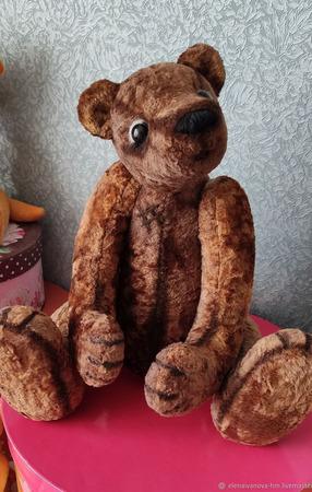 Мишки Тедди: Винтажный медведь Кристофер ручной работы на заказ