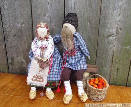 """Куклы Неразлучники """"Золотая свадьба"""" ручной работы на заказ"""