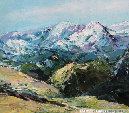 """Картина """"В горах"""" ручной работы на заказ"""