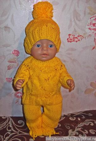 Ажурно-желтый костюм ручной работы на заказ