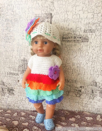 Платье «Радужное настроение» ручной работы на заказ