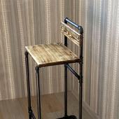 Барный стул в стиле Лофт из водопроводных труб