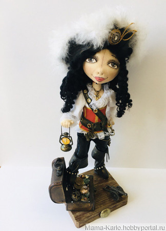 Кукла-пиратка Черная Роза ручной работы на заказ