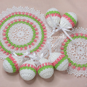 Пасхальный набор, салфетки и чехлы для яиц