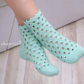 Вязаные носки для дома