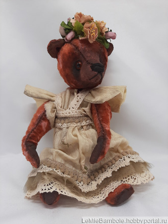 Мишка-малышка Апрелька ручной работы на заказ