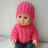 Свитер и шапочка для пупса или куклы