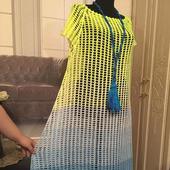 """Длинное платье """"Акварель"""""""