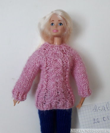 Свитер нарядный для куклы Барби ручной работы на заказ